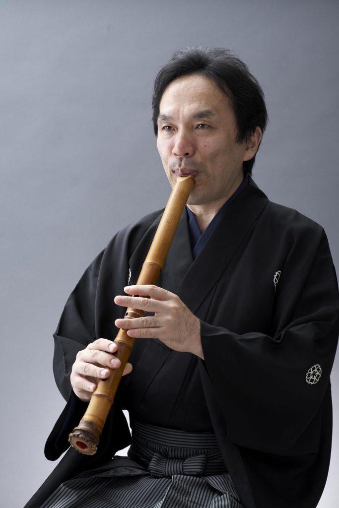 竹井誠アーティストフォト(尺八)