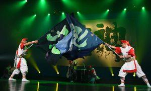 旗のパフォーマンス
